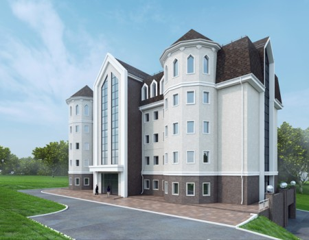 Административное здание в районе ул. Маковского